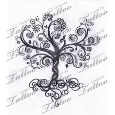 swirls tree tattoo - I don't think I will ever get a tattoo but if I did it…