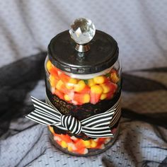 Create this simple and elegant treat jar you can use all year round!