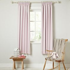 Buy little home at John Lewis Plain Pencil Pleat Blackout Lined Curtains Online at johnlewis.com