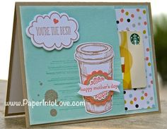 "Stampin' Up ""You're the Best"" Giftcard Card"