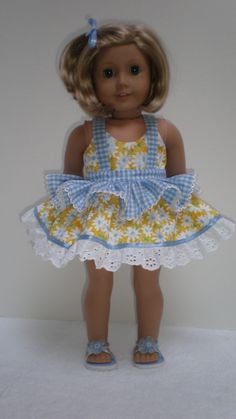 RUFFLED DRESS & LEGGINGS American Girl 18 inch doll. $19.50, via Etsy.