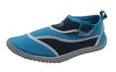 Women's Velcro Ankle Strap Fashionable Water Shoes w/ Color Scheme >>> You can get more details by clicking on the image.