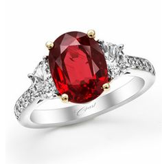 Diamond and Ruby Ring available at Houston Jewelry! (- the band diamond)