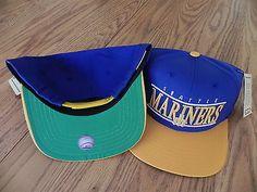 c81c5fad01d SEATTLE MARINERS VINTAGE SNAPBACK RETRO BAR CAP HAT NWT Seattle Mariners