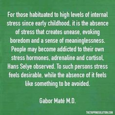 Addiction to stress? Mental And Emotional Health, Emotional Healing, Mental Health Awareness, Ptsd Awareness, Emotional Stress, Gabor Mate, Trauma Quotes, Marriage Material, Psychology Quotes