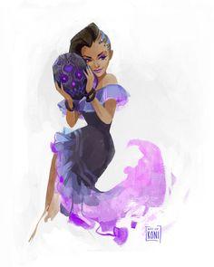 Sombra - Overwatch's Ladies Project by Koni-art