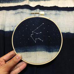 Midnight Ocean and Aquarius Constellation by PlutoKaleidoscope
