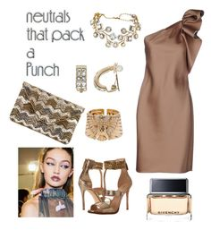 """Neutral Night Out"" by dayna-marie on Polyvore featuring Lanvin, Nine West, Cartier, Dana Buchman, Sole Society and Givenchy"