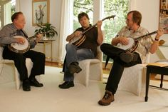 Earl Scruggs, Bela Fleck and Tony Trischka