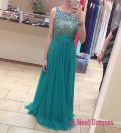 Blue Prom Dress,Simple Prom Dress,Princess Prom Gown,Beaded Prom Dresses,Sexy Evening Gowns,2018 New Fashion Evening Gown,Chiffon Graduation Dress For Teens PD20184491