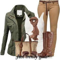 Safari style clothing | Just Trendy Girls Look Fashion, Fashion Outfits, Womens Fashion, Fasion, Fall Winter Outfits, Autumn Winter Fashion, Safari Outfits, Safari Outfit Women, Casual Outfits