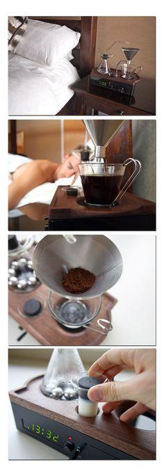 Barisieur verbindet Wecker mit kompakter Kaffeemaschine