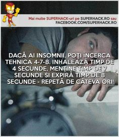 Nu poţi dormi noaptea? Poate metoda asta te va ajuta! - SuperHack.ro Life Hacks, Insomnia, Lifehacks
