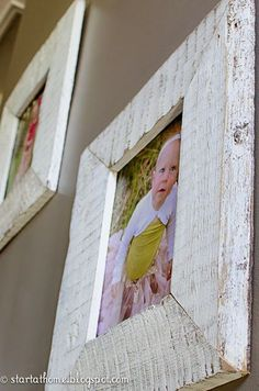 Pallet wood turned beautiful picture frames by Start at Home Decor