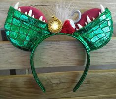LIGHT UP Captain Hook/Tick Tock Crocodile Mouse Ears with light up Clock/Disneyland mouse ears/mickey ears/minnie ears/Tick tock ears Disney Ears Headband, Diy Disney Ears, Disney Headbands, Disney Mickey Ears, Disney Diy, Disney Crafts, Minnie Mouse, Ear Headbands, Mickey Ears Diy