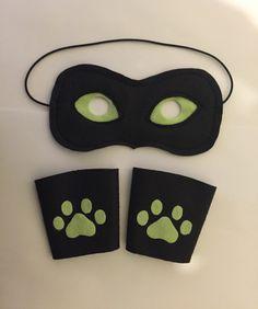 Kit bracelete + mascara Ladybug ou Catnoir. Ideal para dar em festa de aniversários.