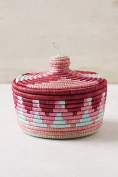 Indego Africa Marrakech Lidded Basket - Urban Outfitters