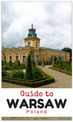 Our guide to everything you need to know for a trip to Warsaw, Poland including the best things to do in Warsaw, Warsaw with kids, where to stay, eat, how to get around and about where to find a doctor! http://www.wheressharon.com/europe-with-kids/what-to-do-in-warsaw-poland/