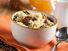 Did you know Silk® has a ton of Smoothie Solutions, like thisCinnamon Breakfast Quinoa?