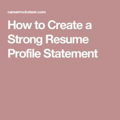How To Make A Strong Resume Sample Resumes And Letters For Students  Sample Resume Resume .