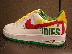 Nike Air Force Ones 2006, West Indies, Rasta, Reggae - Please let them have my size.