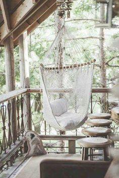 ☮ American Hippie Bohéme Boho Lifestyle ☮ Hammock swing chair