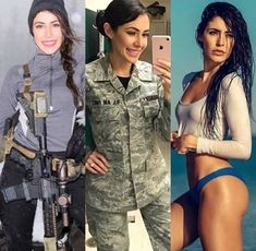 Here we share a new collection of ARMY WOMEN in and out of uniform. These are the 77 beautiful ARMY WOMEN looking gorgeous without uniform. Mädchen In Uniform, Kardashian Photos, Female Soldier, Female Marines, Military Girl, Military Women, Girls Uniforms, Professional Women, Sensual
