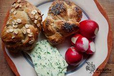 Kuchařka ze Svatojánu: HOUSKY KYNUTÉ PŘES NOC Bagel, Crackers, French Toast, Muffin, Bread, Chicken, Breakfast, Pizza, Morning Coffee