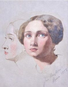 Gouache & Pastel   Portrait Study   'Roma 1852'   by James Hayllar   1829-1920    eBay