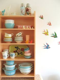 Birds On the Wall: The birds are a wonderful added touch to the wall.