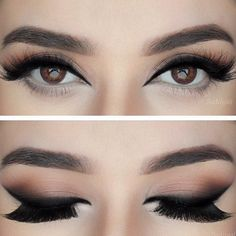 Make up Brown eyes ojos café maquillaje
