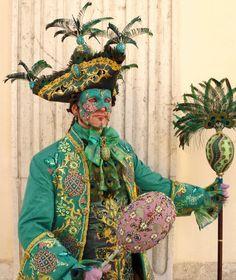 February - Venice Carnival: teals