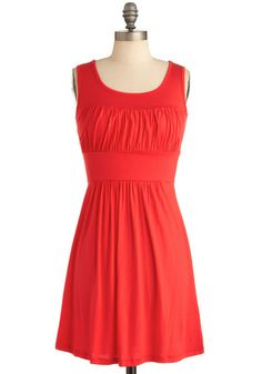 Simplicity Party Dress in Orange -- ModCloth. The name is very fitting; simple but cute