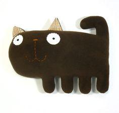 Kicia- handmade plush animal. $22,00, via Etsy.