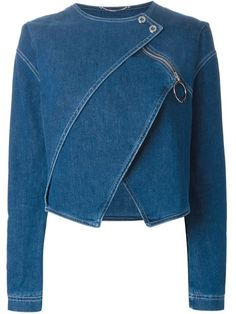 Denim jackets: Shop Kenzo tiered denim jacket in Stefania Mode fr. Denim Fashion, Fashion Outfits, Womens Fashion, Denim Outfits, Jackets Fashion, Cheap Fashion, Skirt Outfits, Modest Fashion, Fall Fashion