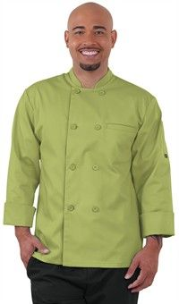 Men's Long Sleeve Economy Chef Coat - Plastic Button Front - 65/35 Poly/Cotton Restaurant Uniforms, Cotton Style, Costume Design, Chef Coats, Chef Jackets, Long Sleeve, How To Wear, Plastic, Clothes