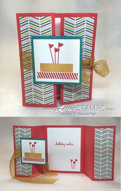 Double Gate Fold Card Technique: so easy! Video Tutorial by LovenStamps with…