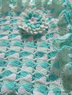 Baby Blanket Curly Border.