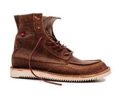 Very nice pair of boots- no.1 Christmas wish list  WINDOK (MENS)  Brown/Yellow Pullup - Premium Footwear by Oliberté Check it at our stores : http://www.oliberte.com/shoes/windok/brown-yellow