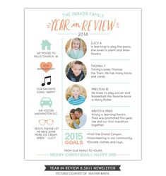 2018 year in review christmas newsletter template in pdf for print