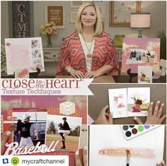 Close To My Heart: Texturizing Techniques https://goo.gl/YfjoHY Learn some new techniques to spice up your scrapbooking pages and cards. Jill shows you how to do fun things like embossing the non-traditional way, dynamic journaling, and plastic sponging. Show us your artwork using the hashtag #CTMHTextures or #CTMHTechnique.