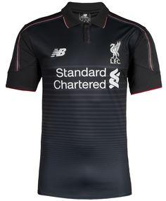 8462972d6bc Black Liverpool Kit 15-16 LFC Third Shirt GK New Balance 2015-16 Soccer