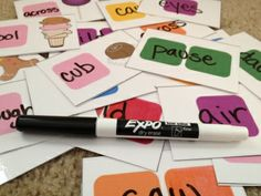 Free Printable Blank Candyland Cards for Spelling Practice