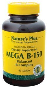 Nature's Plus - Mega B-150 S.R., 60 tablets by Nature's Plus. Save 25 Off!. $18.70. Serving Size - 1 tablet. Does Not Contain: Artificial colors and preservatives, common allergens yeast, wheat, corn, soy and milk.