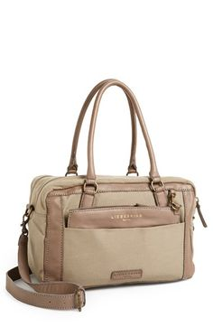 Liebeskind 'Toska' Canvas & Leather Satchel available at #Nordstrom