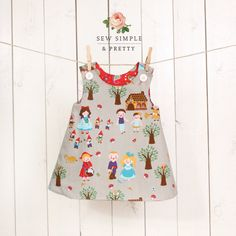 Girls A line dress pattern - easy toddler reversible dress patterns - children sewing patterns 1 to 8 years on Etsy, $6.00