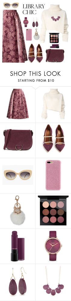 """Untitled #2335"" by ebramos ❤ liked on Polyvore featuring Erdem, Ann Demeulemeester, Little Liffner, Malone Souliers, Shibaful, Natasha, MAC Cosmetics, Nixon and Kim Rogers"