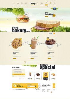 Baky's Delicious #food #webdesign
