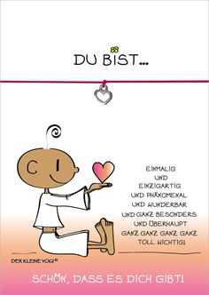Glücksschmiedin-Wunscharmband: YOU ARE … … unique and unique and p … - Event Planning Just Be You, Love You, My Love, Hug Cartoon, Buddha Doodle, Midnight Thoughts, German Words, Susa, Tantra
