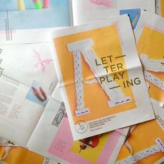 Win a numbered copy of designer Frances Gray's Letter Playing #newspaper, an exploration into hand-crafted #typography. Hop over to her profile to find out how @f_gray_ #newspaperclub